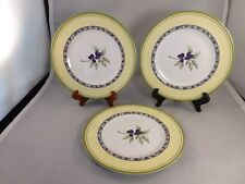 Set of 3 Royal Doulton Carmina Melamine/Plastic Salad Plates