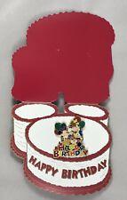 Disney Shopping 42976 - Mickey & Friends Birthday Cake Card and Pin NIP
