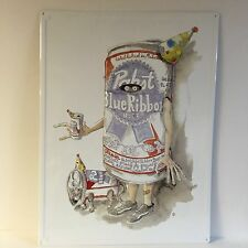 "Pabst Blue Ribbon PBR Birthday Cat Tin Sign Art Series NEW & F/S ~ 24"" x 18"""