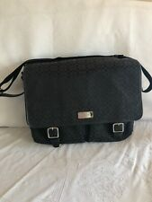 Coach Messenger Laptop Bag Black Fabric/Leather Trim E1069-F70293