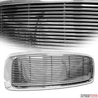 For 02-05 Dodge Ram 1500 2500 Chrome Horizontal Billet Front Bumper Grill Grille