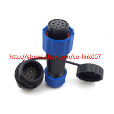 SD16, 9Pin Waterproof Connector Cable Male Female Automotive Power Connector