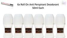 "6 x Avon ""Soft Musk Delice"" Roll on Anti Perspirant Deodorant 50ml each,New"
