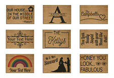 Personalised Fabulous Welcome Coir Door Mat / Custom Bespoke Floor Rug Large