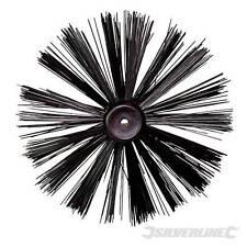 "Silverline Chimney Flue Sweep Brush Head For Drain Rods Set 10"" - 630077"