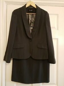 Planet Size 10 Grey Pinstripe Suit