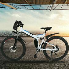 26'' Electric Bike Foldable Mountain Bicycle Adult City Commute E-bike 21 Speed