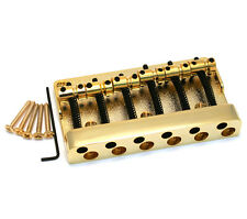 Gold Hi-Mass Heavy Duty 6-String Bass Guitar Bridge 77.5mm Spacing BB-3490-002