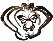 Stainless Steel Garden Wind Spinner Sun Catcher Crystal - Large Butterfly