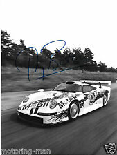 PORSCHE 911GT1 911 GT1 THIERRY BOUTSEN  WERKFOTO SIGNED AUTOGRAPHED PHOTOGRAPH