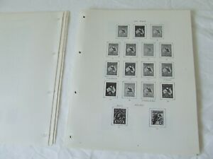 STANLEY GIBBONS AUSTRALIA 4-RING ILLUSTRATED STAMP ALBUM PAGES, CHOOSE FROM LIST