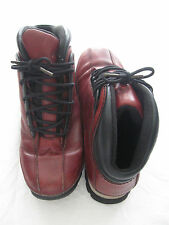 Womens Timberland EURO DUB Smooth Hiking Boots Burgundy 6.5 Leather Ankle #85315