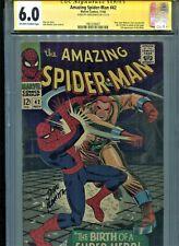 Amazing Spider-Man #42 CGC 6. SS SIGNED John Romita Marvel 1st Mary Jane Reveal