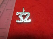 14KT WHITE GOLD EP NUMBER 57 DIAMOND CUT CHARM charms