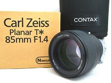 Amazing TOP MINT in BOX Carl Zeiss Planar T 85mm F/1.4 Contax N1 NX JAPAN 254