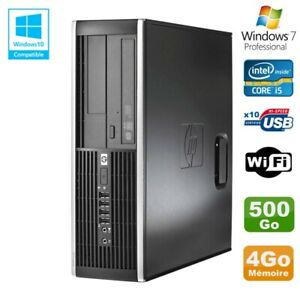 PC HP Elite 8300 SFF Core I5 3470 3.2GHz 4Go Disque 500Go Graveur USB3 Wifi W7