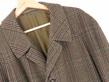 M603 DUNN & CO GREAT BRITAIN COAT VINTAGE ORIGINAL UNIQUE CHECKED WOOL size L