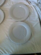 CASUAL SETTINGS by ONEIDA--PALMS (PALM TREES)---SET OF 2) DINNER PLATES--EUC