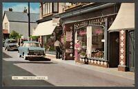 Postcard Porlock nr Minehead Somerset cafe shop front motor car SCO 57 vintage
