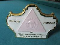 ROYAL DUX BOHEMIA CZECHOSLOVAKIA DISPLAY SIGN [*a7]