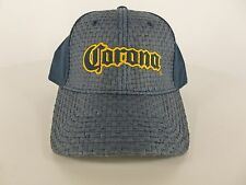 Cool Hat Mens Blue Corona Beer 35% Straw Logo Cap Party Brewery