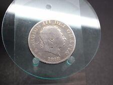 Half Crown 1818 geputzt Großbritannien (617)