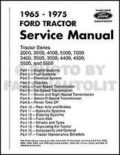 Ford Tractor Repair Shop Manual 2000 3000 3400 3500 4000 4400 4500 5000 7000