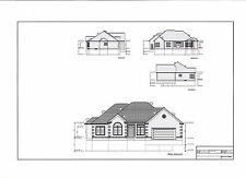 Full Set of single story 3 bedroom house plans 2,145 sq ft