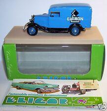 ELIGOR FORD V8 CAMIONNETTE 1934 ELTRON CHAUFFAGE ELECTRIQUE 1/43 REF 1505 BOX b