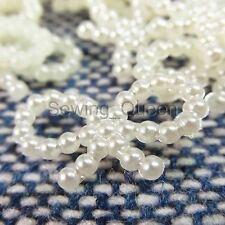 1000 pcs 10x18mm Acrylic Pearl Ivory Butterfly Bow Flatback Beads Wedding Deco