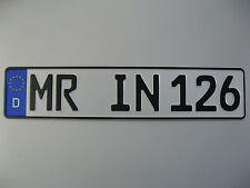 1 Einzel-KFZ-Kennzeichen EU Standard, Nummernschild, Autokennzeichen