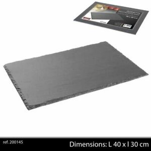 Ardoise Tableware Serving Platter 40x30cm Starter Slate Plate