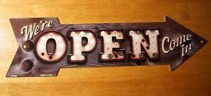 Rustic OPEN Arrow Broken Marquee Light Sign Primitive Store Shop Diner Decor NEW
