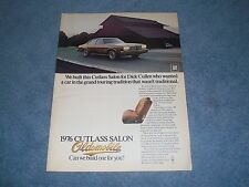 "1976 Oldsmobile Cutlass Salon Vintage Ad ""...Grand Touring Tradition..."""