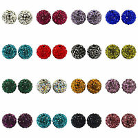 10x Ball Dicht Strass Kugel Ball Strassperlen Perlen Beads 10mm