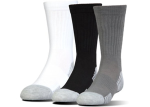 Under Armour U327 Men's UA HeatGear Tech Crew 3-Pack Athletic Socks 1303206