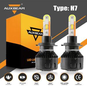 AUXBEAM B5 H7 56W DRL High/Low LED Headlight w/ Phone APP Bluetooth Control RGB