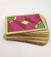 Art Deco Playing Cards Ephemera Geometric 45 cards magenta teal purple USA L1408