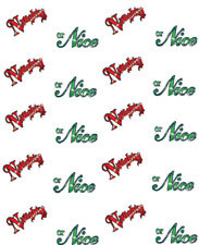 "Christmas ""Naughty or Nice""  Waterslide Nail Decals/Nail Art"