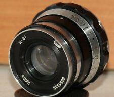 """INDUSTAR-61 """"ZEBRA"""" 2.8/53mm soviet lens Leica  M39 Zorki FED RF USSR"""