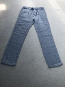 Zara Light Blue Linen Trousers Age 10
