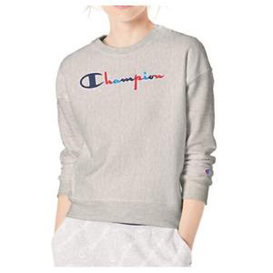 Champion Women's Reverse Weave Crew - 3 Color Script - Medium