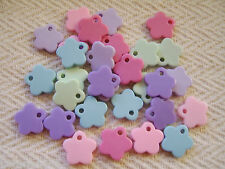 FLOWER CHARMS. PASTEL FLOWER CHARMS.ACRYLIC FLOWER CHARMS X30.