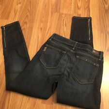 Paige Womens Jeans Size 30 Skinny ZIP Leg Dark Wash Denim Stretch 30/29