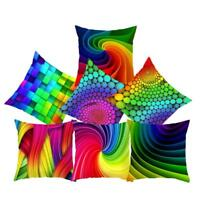 Colorful Abstract Rainbow Cushion Cover Home Sofa Bedroom Car Throw Pillow Cases