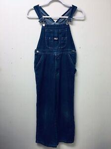 Key Overalls Girl Sz 12 Blue Denim  V