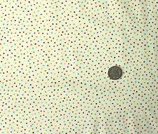 Small Multi Couleur dot tissu sur crème FQ Makower MK265Q 50 x 56 cm 100% coton