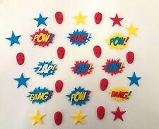 Super Héros, BATMAN, SUPERMAN, SPIDERMAN anniversaire loose Gâteau Décorations