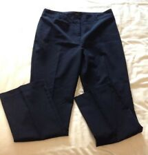 """Ladies Trousers Size 14 Navy. Smart Office Evening Trousers. Inside Leg 30""""."""