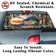 Oak Tree Camo with BASS BACK Window NL Graphic Perforated Film Decal Truck SUV